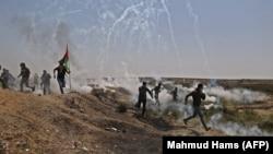 Pamje të përleshjeve mes palestinezëve dhe izraelitëve javë më parë.