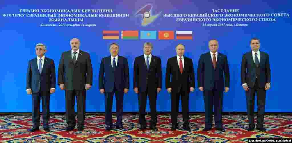 На заседании Высшего Евразийского экономического совета. Бишкек, 14 апреля 2017 года.
