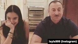 Ильхам Алиев с дочерью