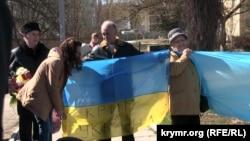 Акция в честь дня рождения Шевченко, Симферополь