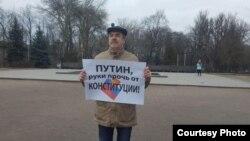 Экс-руководитель штаба Навального в Пскове Валентин Болдышев. (фото: Павел Чернов)