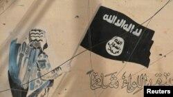 Графіті із зображенням символіки угруповання «Ісламська держава» в Іраку (ілюстративне фото)