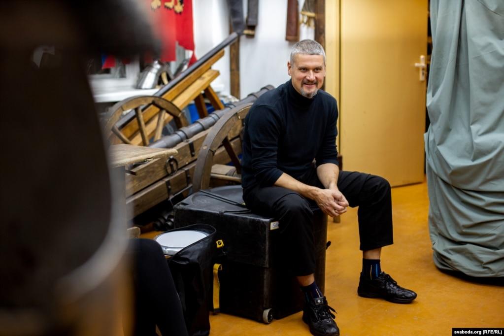 Зьміцер Сасноўскі, дудар і адзін з вакалістаў гурту