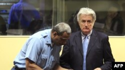 Radovan Karadzic at the International Criminal Tribunal for the former Yugoslavia in The Hague
