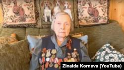 """""""Nemamo posebne veze s vladom"""", kaže 97-godišnja Zinaida Korneva. """"Ovo je jednostavan poziv ljudima da se ujedine."""" Foto: Zinaida Korneva (YouTube)"""