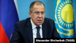 Russia's Foreign Minister Sergei Lavrov during an extended meeting with Kazakhstan's Minister of Foreign Affairs. October 6, 2017