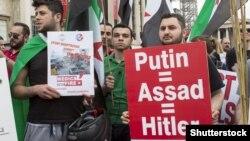 Мітинг проти війни в Сирії. Лондон, травень 2015 року