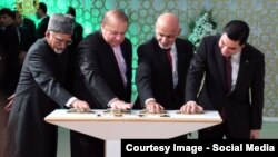 Hindistanyň, Pakistanyň, Owganystanyň we Türkmenistanyň prezidentleri.