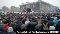 Pamje ga demonstratat e sotme në Kiev të Ukrainës