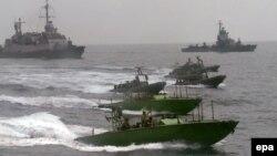 Корабли ВМС Израиля в Красном море, 5 марта 2014 года.