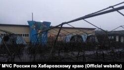 После пожара в палаточном лагере в Хабаровском крае