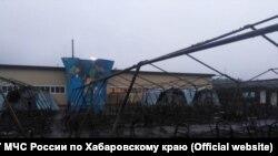 Палаточный лагерь в Хабаровском крае после пожара