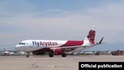 Самолет авиакомпании FlyArystan.