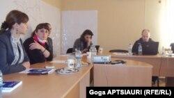 """""""ომისა და მშვიდობის გაშუქების ინსტიტუტის"""" (IWPR) და """"გაეროს ქალთა ორგანიზაციის"""" (UN Women) პროექტის პრეზენტაცია"""