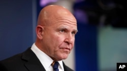 White House national security adviser H.R. McMaster