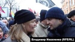 """Сандра Рулофс и Давид Сакварелидзе на """"Марше за импичмент"""""""