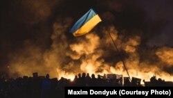 Учасники Революції гідності на Майдані незалежності, Київ, 20 лютого 2014 року