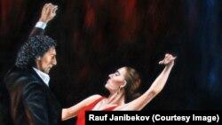 """Фрагмент картины азербайджанского художника Рауфа Джанибекова """"Фламенко"""""""