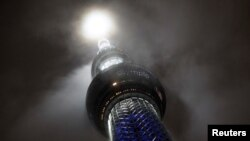 Osvjetljenje tornja Skytree čime se obilježava otkucavanje 100 dana do početka Olimpijskih igara u Tokiju (14. april)
