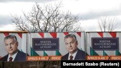 Венгрия өкмөт башчысы Виктор Орбандын шайлоо өнөктүгү. 31-март, 2018-жыл.