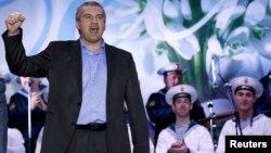 Премьер-министр Крыма Сергей Аксенов празднует итоги референдума о присоединении к России. Симферополь, 16 марта 2014 года.