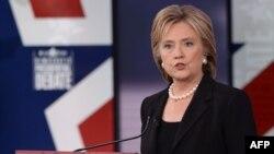 Хиллари Клинтон выступает в городе Дес-Мойнес, штат Айова. 15 ноября 2015 года.