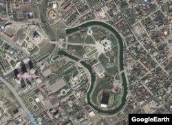 Резиденция Кадырова на Google картах
