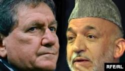 """Ричард Холбрук и Хамид Карзай обменялись мнениями в острой форме, но закончили на """"дружеской ноте"""" (фотоколлаж)"""