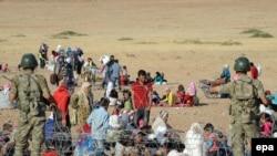 آواره گان کرد سوریه در مرز با ترکیه
