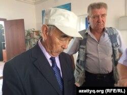 Председатель совета ветеранов Курайлинского сельского округа Жолдыбай Избаганбет.