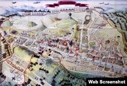 Mapa opkoljenog Sarajeva