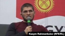Хабиб Нурмагомедов Бишкекке келген учуру.
