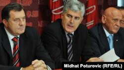 Milorad Dodik, Dragan Čović i Sulejman Tihić. foto iz arhive