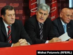 Milorad Dodik, Dragan Čović i Sulejman Tihić, septembar 2011.