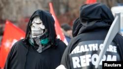Протесты против реформы системы здравоохранения длятся в России не первый год. Москва, ноябрь 2014