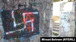 'Antititoizam je razumljiv kao politička reakcija nezadovoljnih ljudi, ali je u isto vreme aistoričan' (Foto: grafiti na Partizanskom groblju u Mostaru)