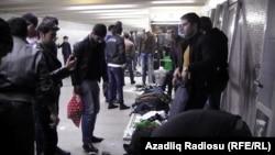 Bakı metrosunda ticarət
