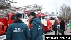 Виставка пожежної техніки в Сімферополі, лютий 2016 року