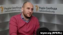 Український журналіст Роман Бочкала в студії Радіо Свобода