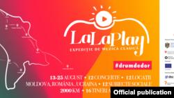 Afișul turneului La La Play, august 2018.