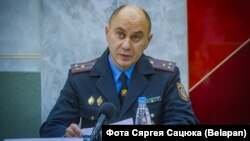 First Deputy Interior Minister Henadz Kazakevich appeared in a video in October threatening to use lethal force against those demonstrating against the election results.