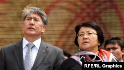 Экс-президенты Алмазбек Атамбаев и Роза Отунбаева.