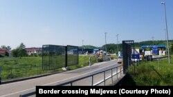 Pomična metalna ograda na prijelazu Maljevac
