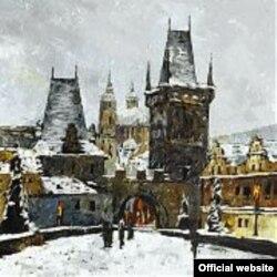 """""""Кар астындагы Карл көпүрөсү, Прага"""". А. Онищенко"""