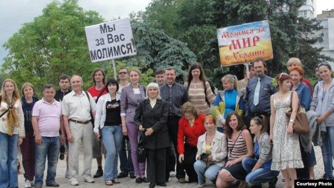 Участники молитвенного марафона в Донецке – 4 июня 2014 года