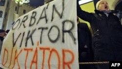 Во время одной из акций протеста венгерской оппозиции