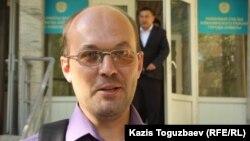 16/12 порталының тілшісі Андрей Цуканов. Алматы, 12 мамыр 2014 жыл.