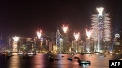 نمایی از بندر هنگ کنگ
