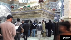 The Shrine of Masoumeh in Qom, the eighth-largest city in Iran. Qom is the epicenter of coronavirus outbreak in Iran. Photo from Twitter.