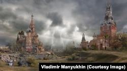 "Картина Владимира Манюхина ""Красная площадь. Осень"""